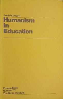 Image for <B>Humanism in Education </B><I> </I>
