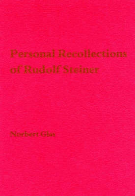 Image for <B>Personal Recollections of Rudolf Steiner </B><I> </I>