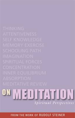 Image for <B>On Meditation </B><I> Spiritual Perspectives</I>