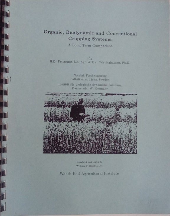 Image for <B>Organic, Biodynamic and Conventional Cropping Systems: a Long Term Comparison </B><I> </I>