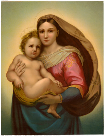 Image for <B>Sistine Madonna Poster - Medium Detail 0110E KD </B><I> </I>