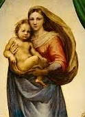 Image for <B>Sistine Madonna Poster 0110A KD  Small Detail </B><I> </I>