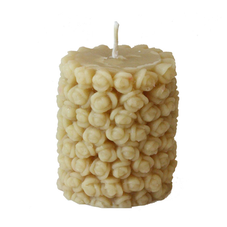 Image for <B>Candle, Rosebud Pillar </B><I> </I>