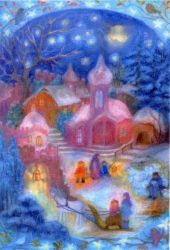 Image for <B>AK059 Outside the Church Advent Calendar - Small </B><I> </I>