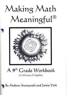 Image for <B>Making Math Meaningful: A 9th Grade Workbook </B><I> </I>