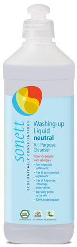 Image for <B>Sonett Dishwashing Liquid Sensisitve 500ml </B><I> All-Purpose Cleanser</I>