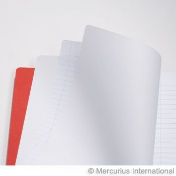 Image for <B>Middle School Main Lesson Book 21x30cm each </B><I> 1x1 Lines 8mm Economy 48pg Red</I>