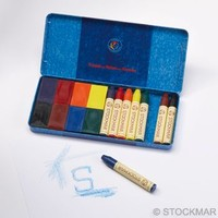 Image for <B>Stockmar Crayons combi. 8 sticks & 8 blocks in tin </B><I> </I>