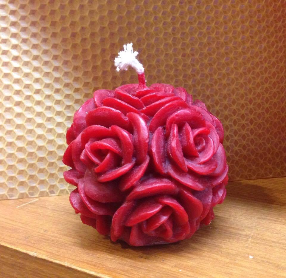 Image for <B>Candle, medium Rose Ball </B><I> </I>