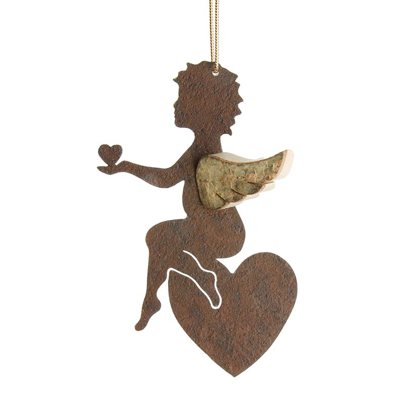 Image for <B>Angel bark wings small heart in hand </B><I> </I>