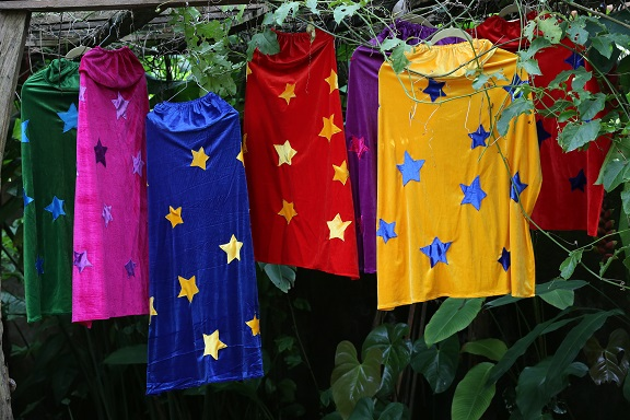 Image for <B>Marieke Silk Velvet Star Cape </B><I> </I>