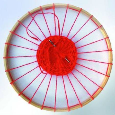 Image for <B>Weaving Frame Circular with 25 holes 22 cm </B><I> (Wool not included)</I>