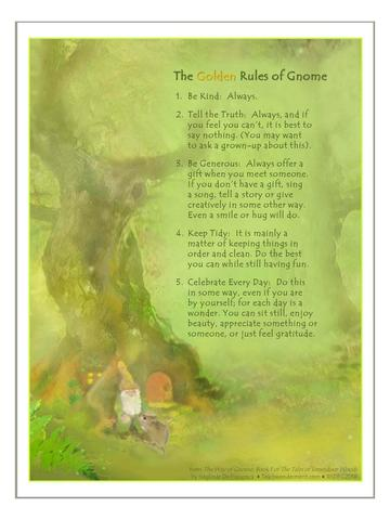 Image for <B>Poster of The Golden Rules of Gnome </B><I> </I>