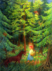 Image for <B>Little Red Riding Hood Print </B><I> P3745E</I>