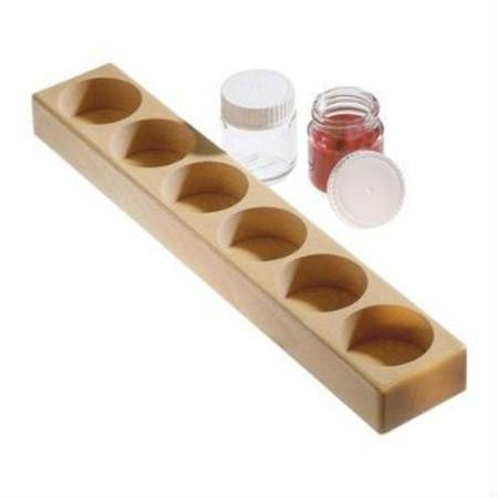 Image for <B>Paint Jar Wooden Holder for six 100ml jars </B><I> (jars not included)</I>