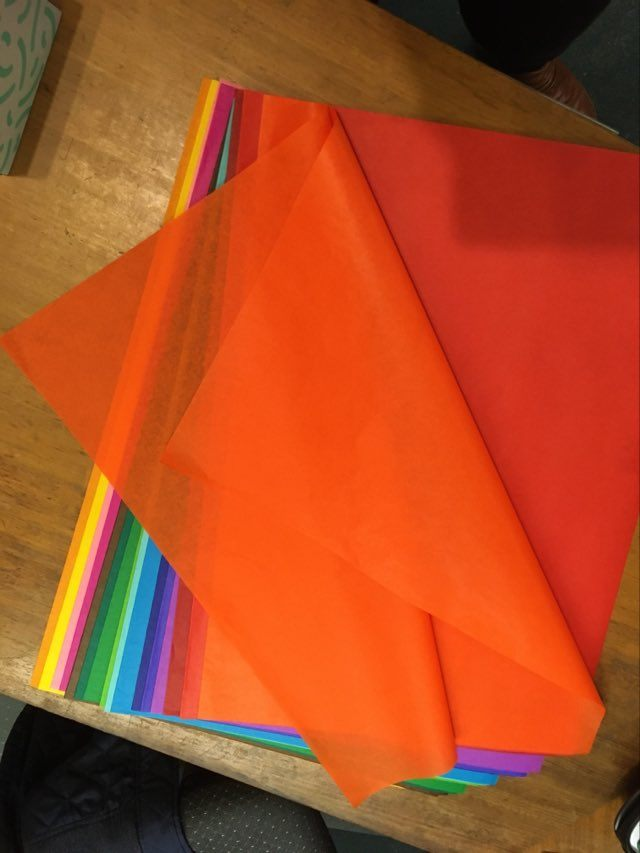 Image for <B>Silk Tissue Paper 18 colours </B><I> </I>