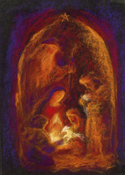 Image for <B>cc02 Adoration of the Shepherds Christmas Card pack of 10 </B><I> </I>