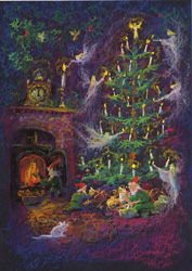 Image for <B>cc36 Preparing for Christmas Night Christmas Card </B><I> </I>