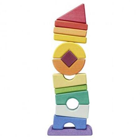 Image for <B>Wooden Puzzle Blocks </B><I> Crooked Tower 13 pcs</I>