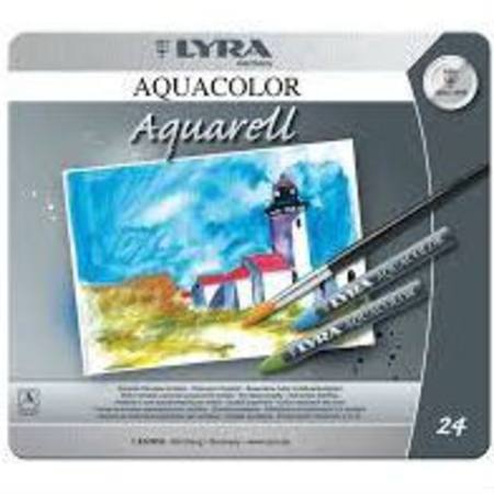 Image for <B>Lyra Aquacolour Watercolour Artist Crayons <br> <br>   <br> <br>Lyra Aquacolor Watercolour Artist Crayons 24 Colours in Tin <br> <br>   <br>Lyra Aquacolor Watercolour Artist Crayons 24 Colours in Tin <br> <br>   <br> <br>Lyra Aquacolor Watercolour Artist Crayons 24 Colours in Tin </B><I> 24 Colours  inTin</I>