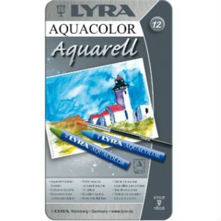 Image for <B>Lyra Aquacolour Watercolour Artist Crayons <br> <br>   <br> <br>Lyra Aquacolor Watercolour Artist Crayons 24 Colours in Tin <br> <br>   <br>Lyra Aquacolor Watercolour Artist Crayons 24 Colours in Tin <br> <br>   <br> <br>Lyra Aquacolor Watercolour Artist Crayons 24 Colours in Tin </B><I> 12 Colours  inTin</I>