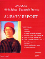 Image for <B>Survey Report </B><I> AWSNA High School Research Project #01: Portfolios, Alternatives to College, Scholarship Websites, Social/Emotional Skills</I>