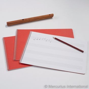 Image for <B>Music Book 30x21cm, Wide model  1x1 Spiral binding </B><I> </I>