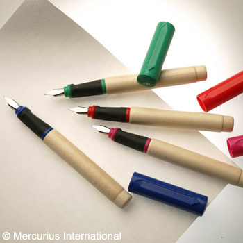 Image for <B>Greenfield Fountain Pen - Red </B><I> </I>