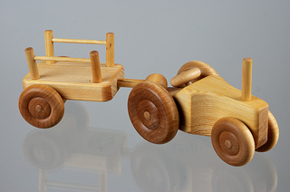Image for <B>Small Tractor With Cart </B><I> </I>