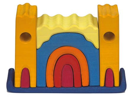 Image for <B>Gluckskafer Castle small, yellow </B><I> </I>