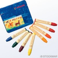 Image for <B>Stockmar Stick Crayons Sydney mix tin 8 </B><I> </I>