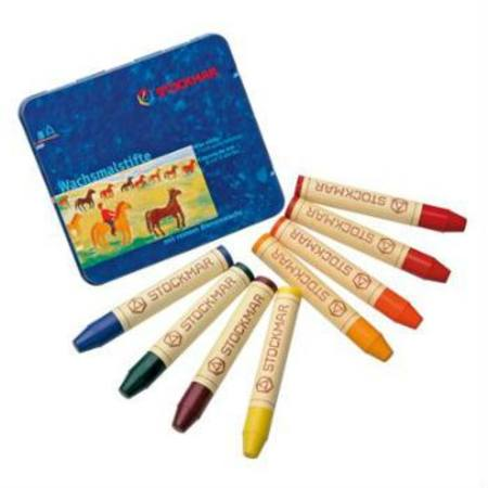 Image for <B>Stockmar Stick Crayons Tin of 8 Waldorf Mix </B><I> </I>