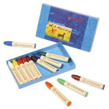 Image for <B>Stockmar Stick Crayons 12 Assorted, Cardboard Box </B><I> </I>