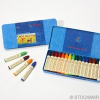 Image for <B>Stockmar Stick Crayons Tin 16 </B><I> </I>