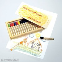 Image for <B>Stockmar Stick Crayons  - 16  In Wooden Box </B><I> </I>