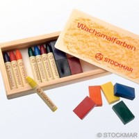 Image for <B>Crayons Stockmar Combi.Set 8 blocks & 8 sticks Wooden Box </B><I> </I>
