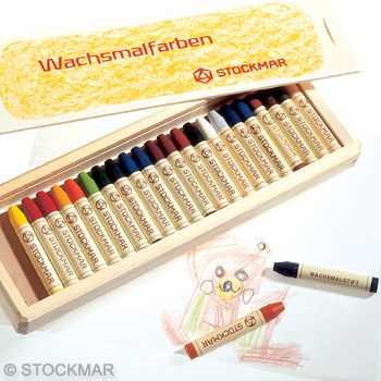 Image for <B>Crayons Stick Stockmar  - 24  In  Wooden Box </B><I> </I>