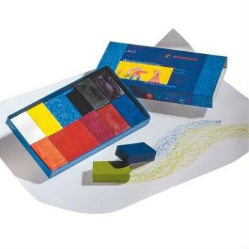 Image for <B>Stockmar Block Crayons -12 Assorted Cardboard Box </B><I> </I>