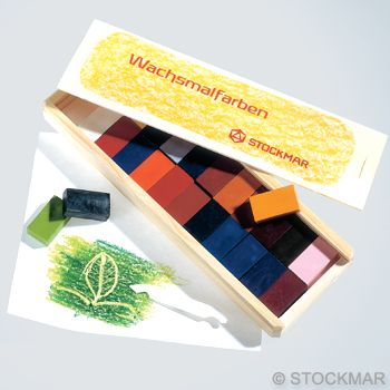 Image for <B>Crayons Block Stockmar  24 Assorted Wooden Box </B><I> </I>