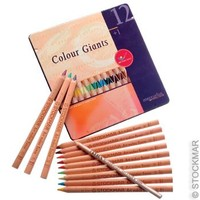 Image for <B>Stockmar/ AMS Pencils  Waldorf Asstd.12 in tin case </B><I> Art Makes Sense Colour Giants</I>