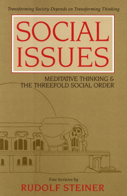 Image for <B>Social Issues </B><I> Meditative Thinking and the Threefold Social Order</I>