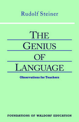 Image for <B>Genius of Language </B><I> Observations for Teachers</I>
