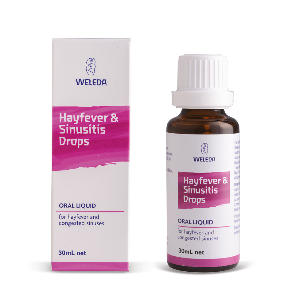 Image for <B>Weleda Hayfever & Sinusitis Drops. 30ml </B><I> Alumen Chromicum Comp</I>