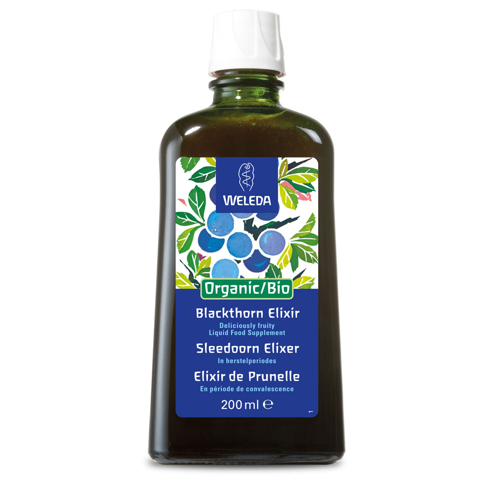 Image for <B>Weleda Organic Blackthorn Elixir, 200ml </B><I> Strengthens the body</I>