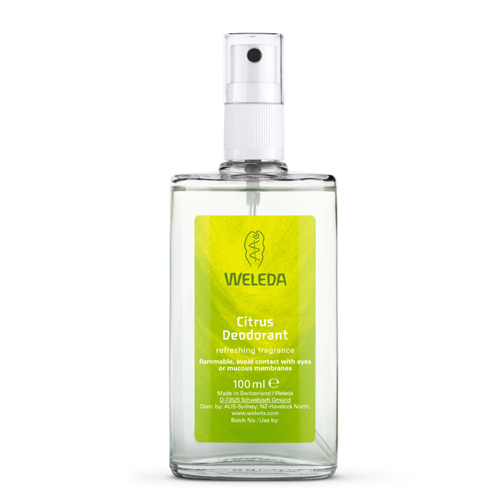 Image for <B>Weleda Citrus Deodorant 100ml </B><I> Free of Aluminium Salts</I>