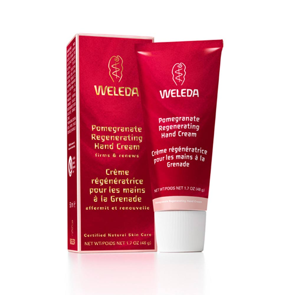 Image for <B>Weleda Pomegranate Regenerating Hand Cream, 50ml </B><I> Renews and protects</I>